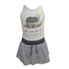 Kleid ärmellos Mädchenkleid zum Binden, 3-farbig