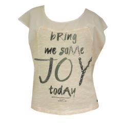 Mädchen T-Shirt mit Glanzschriftzug vorn, altrosa