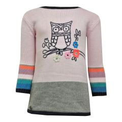 Baby Mädchen Kleid Strickkleid, rosa - 202037