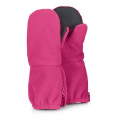 Mädchen Handschuhe wasserabweisend Fleece Fäustel mit Reißverschluss Thinsulate- und Baumwollfleecefutter einfarbig, magenta - 4321906