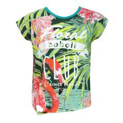 Mädchen Kids T-Shirt Kurzarmshirt gemustert, grün - 413097