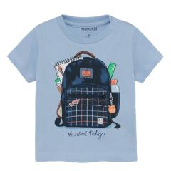 """Jungen Baby T-Shirt Sommershirt kurzarm 3D-Effekt """" Rucksack"""", hellblau - 1011"""