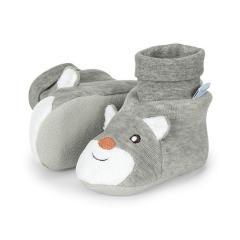 "Jungen Baby Schuhe Krabbelschuhe, grau ""Waldis Filou""  - 5101775"