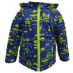 Outbust Jungen Softshelljacke Regenjacke Winddicht und  Wasserdicht 10.000mm Wassersäule Autos, blau/grün 8479518