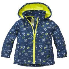 Jungen Softshelljacke mit Kapuze Regenjacke 10.000 mm Wassersäule winddicht, dunkelblau - 8426104