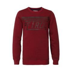 Jungen Pullover Sweater Sweatshirt Langarmshirt Petrol Ind., dunkelrot - B-3090-SWR311