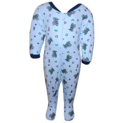 Schlafoverall Schlafanzug Jungen, blau