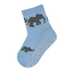 """Jungen Anti-Rutsch-Socken Fliesen Flitzer Air """"Elefanten"""", himmelblau - 8032008"""