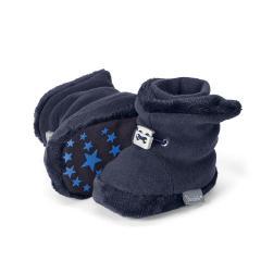 Baby Schuhe Jungen gefüttert mit Stoppern und Gummizug, marine - 5101620