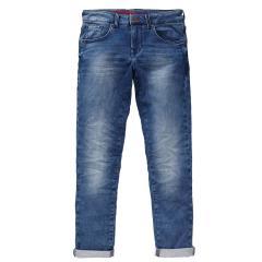 Jungen Jeans Hose slim fit Denim-Jeans mit verstellbarem Bund gefüttert Petrol Ind., mittelblau - B-3090-DNM003
