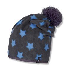 Jungen Beanie Sterne mit Bommel, blau - 4521612b