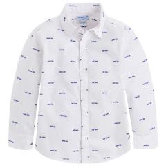 Jungen festliches Hemd langarm Slim Fit, blau