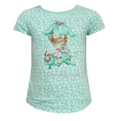 Mächen T-Shirt mit Aufdruck, gruen - 1055