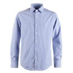Jungen festliches Hemd Slim-Fit langarm, kariert, blau - 5545800