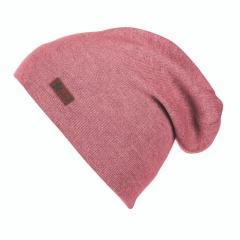 Mädchen Mütze Wintermütze Slouch-Beanie Strick, perlrosa - 4521806