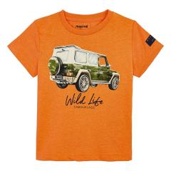 "Mayoral Jungen Sommer T-shirt ""Jeep"", orange - 3.071"