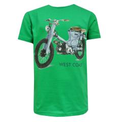 Jungen Kids T-Shirt Kurzarmshirt West Coast, grün - 3019g