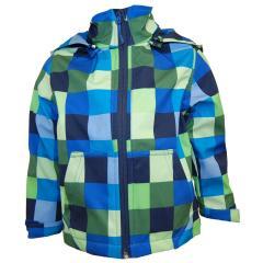 Softshelljacke Funktionsjacke Jungen wasserabweisend, blau grün