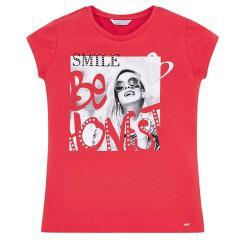 Mayoral Mädchen T-Shirt kurzarm mit Motiv, rot - 6.025r