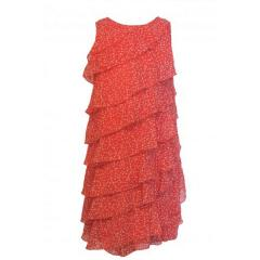 Mädchenkleid Festkleid gepunktet, rot, Größe 134 134 | rot |