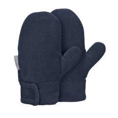 Jungen Fäustlinge Handschuhe Fleece mit Klettverschluss, marine - 4301420