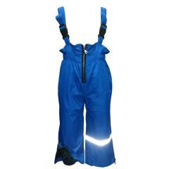 Mädchen und Jungen Regenhose Matschhose Skihose Latzhose Fleecefutter wasserundurchlässig, blau