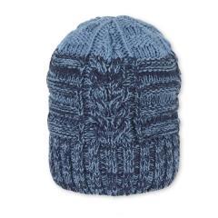 Jungen Mütze Fleecefutter Wintermütze Strickmütze, blau - 4721906
