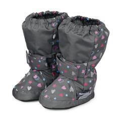 Baby Schuhe Mädchen wasserabweisend, Herzen, grau - 5101711