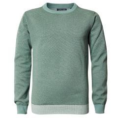 Jungen Pullover Jersey Sweatshirt Langarmshirt mit Muster, grün - B-PS19-KWR281