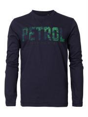 Jungen T-Shirt Langarmshirt mit aufgenähten Buchstaben in grün-blau, blau - B-FW18-TLR648