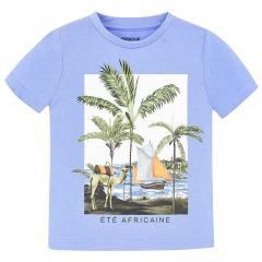 """Jungen T-Shirt Kurzarmshirt, lila """"Afrika"""" - 3.025"""