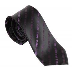 Schlips Krawatte Jungen gestreift, lila - 9957700