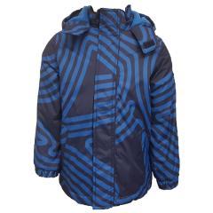 Jungen Jacke Anorak Winterjacke Kapuzenjacke mit Fleece, blau - 6820409