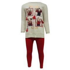 Mädchen Zweiteiler Pullover mit Leggings, rot