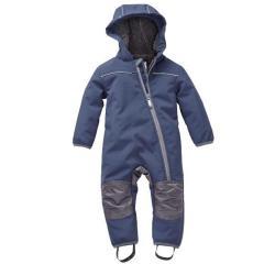 Jungen Baby Softshell Overall gefüttert wasserdicht 10.000 mm Wassersäule winddicht atmungsaktiv Schneeanzug, dunkelblau - 3712745