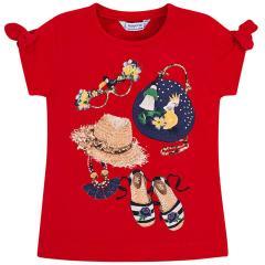 1.748 wei/ß bunt Blumen M/ädchen Baby Set T-Shirt Leggins Mayoral