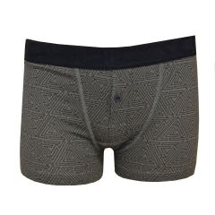 Jungen Kinder Shorty Retro-Shorts gemustert, dunkelgrau - 153849