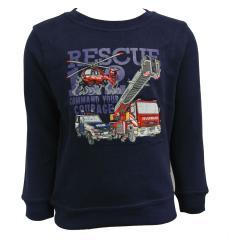 Jungen Sweatshirt gefüttert Einsatzfahrzeuge, dunkelblau - 75111143