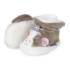 Baby Schuhe Mädchen gefüttert Gummizug, Maus, braun-beige - 5101783