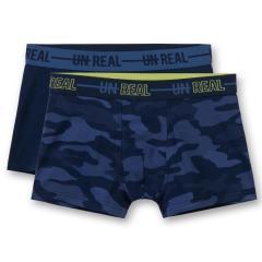Jungen Shorts Unterhosen Hipshorts Doppelpack, dunkelblau - 345595
