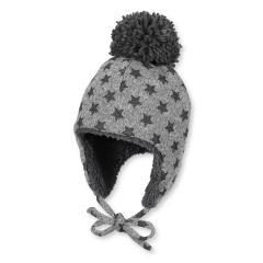 Kids Mädchen Wintermütze Mütze mit Bommel, schwarz - 4411626