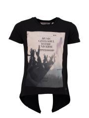 """T-Shirt kurzarm Mädchen """"Music"""", schwarz - 72410s"""