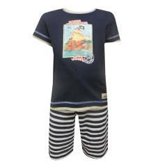 Capt`n Sharky Kurzarm Schlafanzug, dunkelblau