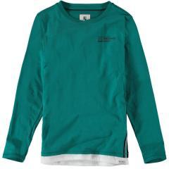 Garcia Jungen T-Shirt Langarmshirt mit seitlichen Streifen, grün - H93605 2769