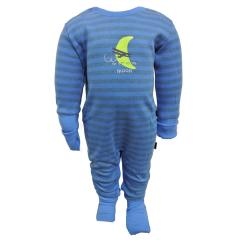 Baby Jungen Strampler mit Knöpfen gestreift, blau - 159262