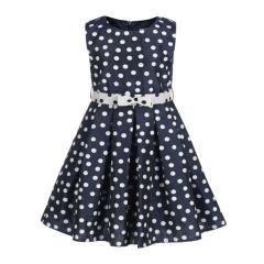 Eisend Mädchen Festkleid Sommer Kleid gepunktet, dunkelblau - 594159