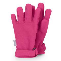 Mädchen Handschuhe wasserabweisend Fingerhandschuhe Fleece mit Klettverschluss einfarbig, pink - 4321913