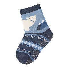 """Jungen Baby Fliesen Flitzer Soft Vollplüsch Anti-Rutsch-Socken gefüttert mit ABS-Sohle, marineblau """"Eisbär"""" - 8141902"""