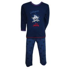 Captn Sharky Schlafanzug lang, dunkelblau