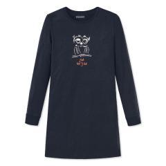 """Mädchen Schiesser Nachthemd Sleepshirt langarm """"Eule"""", nachtblau - 172825"""